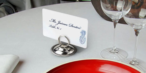 Reserved Table Number Holders