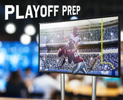 Prepare for playoff viewing parties with digital sign stand solutions!