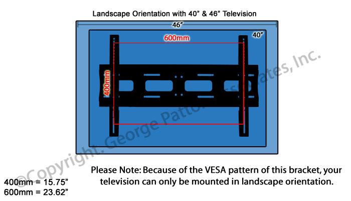 Tv Wall Mount Steel Construction Heavy Duty Display