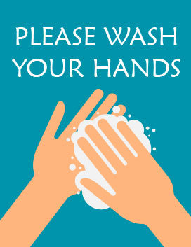 Printable hand washing sign