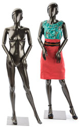 Glossy Pewter Mannequin