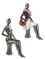 Seated Pewter Mannequin