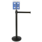Retail Black Stanchion & Post with Literature Holder
