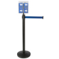 Retail Blue Stanchion & Post with Literature Holder