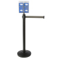 Retail Gray Stanchion & Post with Literature Holder