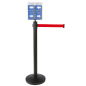 Retail Red Stanchion & Post with Literature Holder