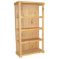 Wood Shelving Stand with Closed Back Drop