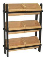 Tiered Crate Display with 6 Removable Compartments