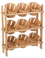BIM体育hel Basket Stand with Pine Wood Frame