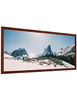 Wooden panoramic photo frame with 13.5 x 40 media size