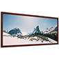 Wooden panoramic photo frame with shatter proof acrylic lens