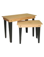 Pine Wood Rustic Nesting Tables