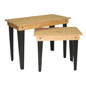 Black & Oak Stain Rustic Nesting Tables