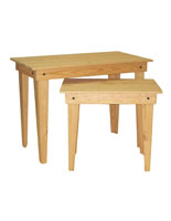 Set of Two Oak Nesting Tables