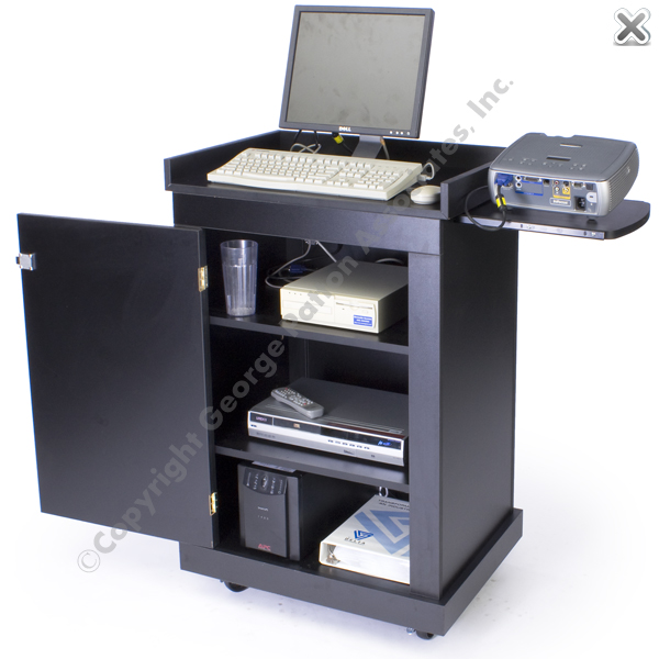 Laptop Station Amp Portable Media Cart