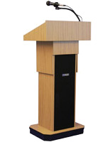 Podiums with Speakers and Microphones