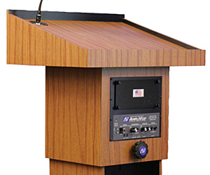 Podiums with Integrated Sound Systems