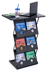 portable magazine holder for events
