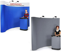 Pop Up Display Stands w/ Hook & Loop Fabric