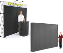 Use these portable show displays as a backdrop at a trade show or other conference.