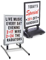 portable a frame changeable letter folding signs a frame sandwich board signs sidewalk a frames amp more for 838