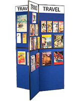 Use these portable tradeshow exhibits to display promotional signage and other pertinent marketing literature.