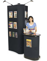 These portable tradeshow exhibits are ideal for small or large presentation spaces.
