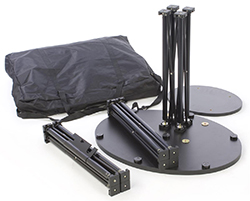 portable TV stand with carrying bag
