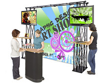 TV Stands for Trade Shows