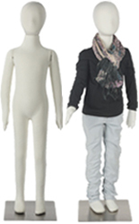 Set of Two Flexible Child Mannequin Displays