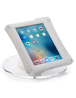 White iPad POS Enclosure, Tension Screw Enclosure