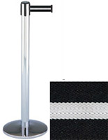 Polished Chrome Retractable Stanchions