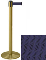 Satin Brass Retractable Tape Stanchions