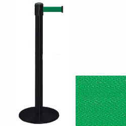 black stanchion