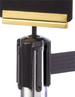Satin Brass Post Top Bracket for Tensabarrier® Posts
