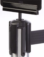 Wrinkle Black Post Top Bracket for Tensabarrier® Posts