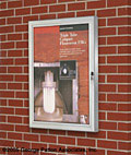 These outdoor poster cases feature lockable and weatherproof features.