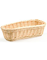 Woven Bread Basket with Elongated Shape