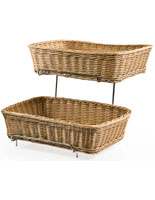 wicker baskets with stand