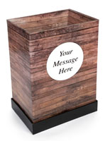 "4"" Deep Custom Wood Print Dump Bin Display with Pre-Printed Exterior"