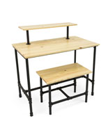 Set of Pipe Retail Nesting Tables with Clear Coat