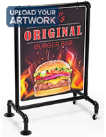 22 x 28 outdoor pipeline display sign with custom full color graphic