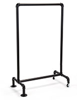 Floor standing 24 x 36 black aluminum pipe sign frame