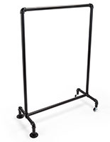 Easy assembly 30 x 40 metal pipe swinger sign frame with matte black finish