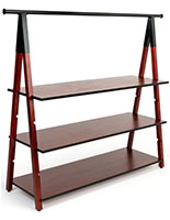 72 inch wide wooden a frame clothes rail