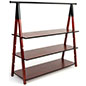 51 inch tall wooden a frame clothes rail