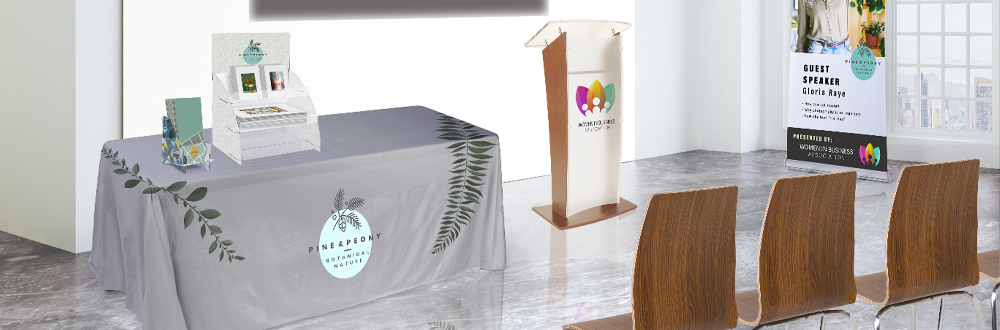 Custom Table Covers and Podiums