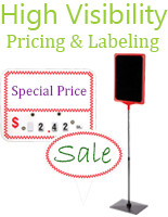 price display labeling