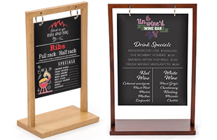 custom printed swinging countertop signs