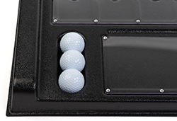 Three golf balls included with prize putt game
